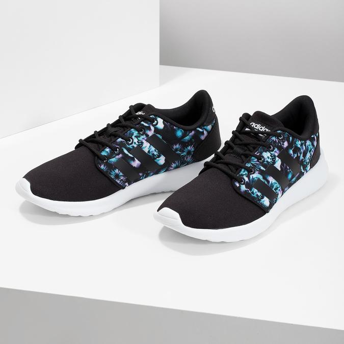 Trampki zkolorowym deseniem wkwiaty adidas, czarny, 509-6212 - 16