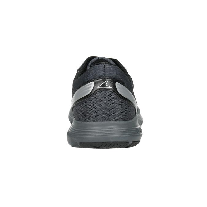 Szare trampki męskie wsportowym fasonie power, czarny, 809-6853 - 16
