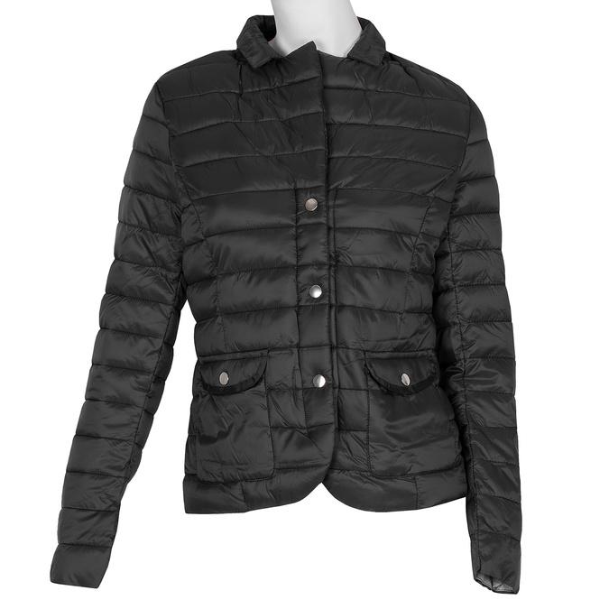 Czarna kurtka damska zkołnierzykiem bata, czarny, 979-6182 - 13