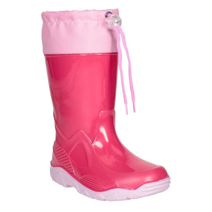 Różowe kalosze dziewczęce mini-b, różowy, 192-5111 - 13