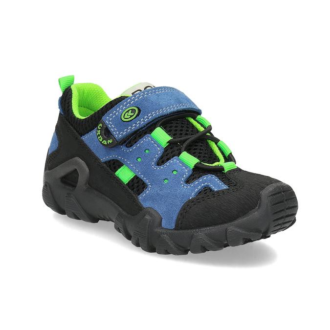 Slip-on dziecięce wstylu outdoor mini-b, niebieski, 413-9605 - 13