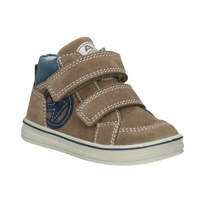 Skórzane obuwie dziecięce za kostkę bubblegummer, brązowy, 113-4607 - 13