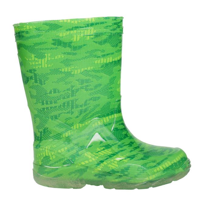 Zielone kalosze wdeseń mini-b, zielony, 392-7110 - 26