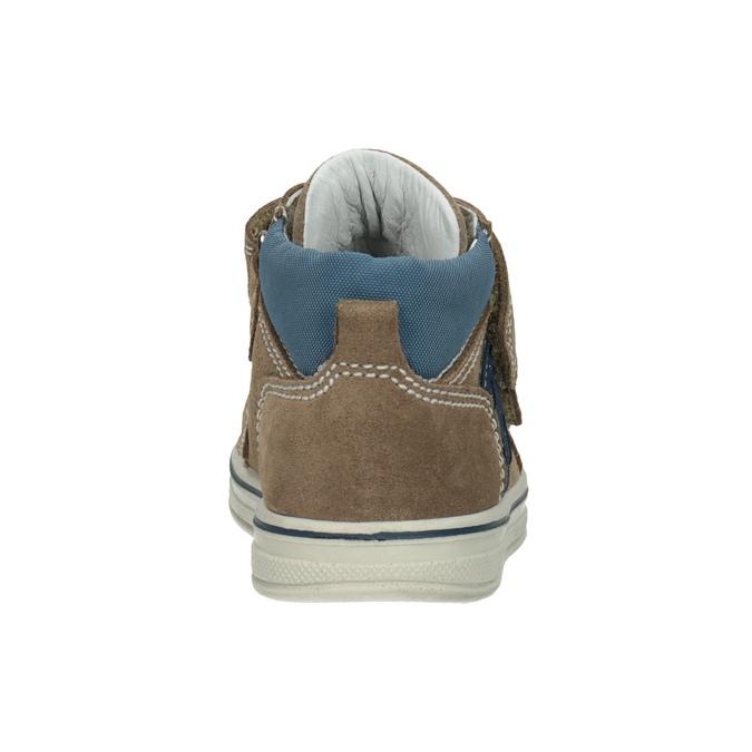 Skórzane obuwie dziecięce za kostkę bubblegummer, brązowy, 113-4607 - 16