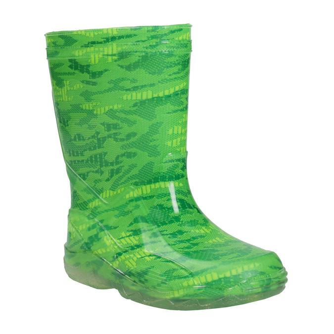 Zielone kalosze wdeseń mini-b, zielony, 392-7110 - 13