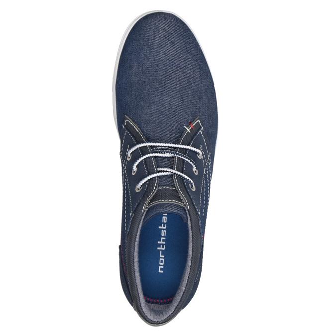 Nieformalne trampki wdżinsowym stylu north-star, niebieski, 841-9613 - 17