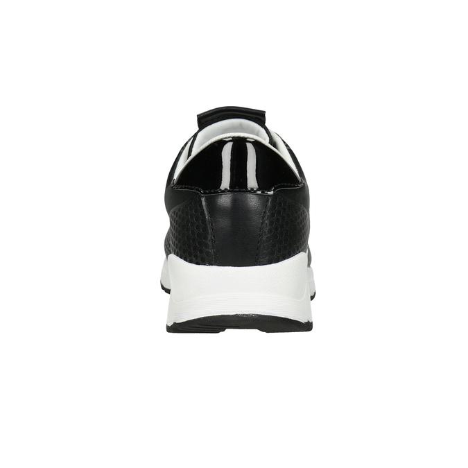 Czarne trampki damskie, czarny, 549-6605 - 16