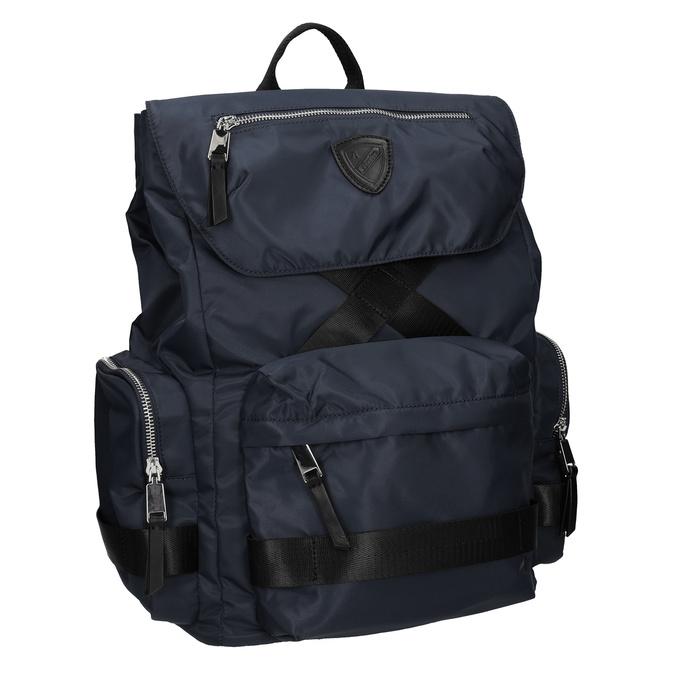 Niebieski plecak męski zmateriału tekstylnego atletico, niebieski, 969-9677 - 13