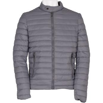 Szara pikowana kurtka męska bata, szary, 979-2114 - 13