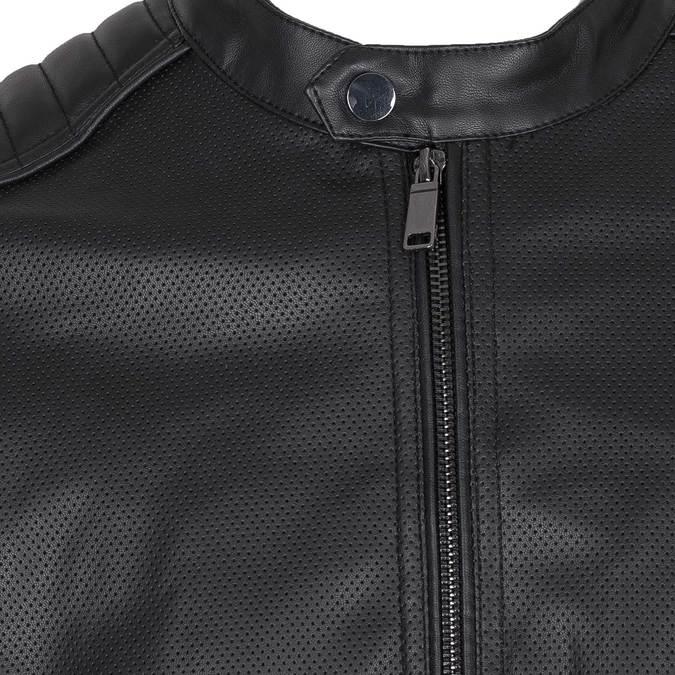 Kurtka męska zpikowanymi wstawkami na ramionach bata, czarny, 971-6118 - 16