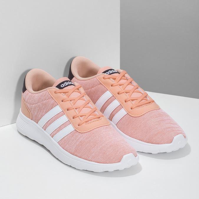 Trampki dziewczęce wkolorze łososiowym adidas, różowy, 409-5388 - 26