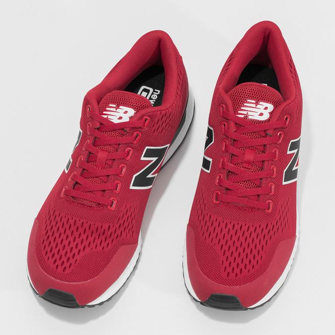 Czerwone skórzane trampki męskie New Balance new-balance, czerwony, 809-5739 - 16