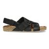 Skórzane sandały męskie bata, czarny, 866-6646 - 19