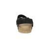 Skórzane sandały męskie bata, czarny, 866-6646 - 15