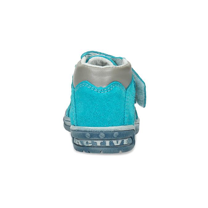 Skórzane obuwie dziecięce za kostkę bubblegummer, niebieski, 113-9608 - 15