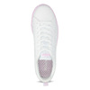Białe trampki damskie zróżową podeszwą adidas, biały, 501-1533 - 17