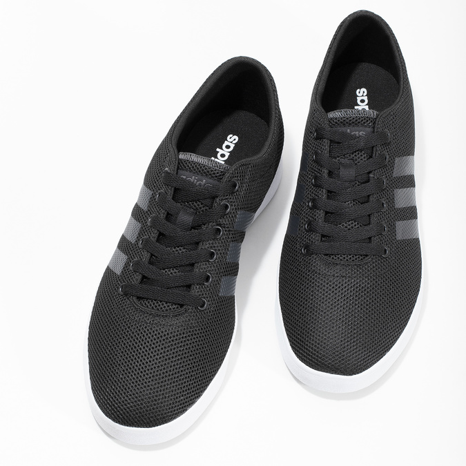 Czarne trampki męskie zfakturą siatki adidas, czarny, 809-6422 - 16