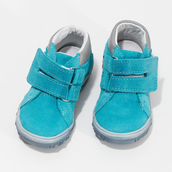 Skórzane obuwie dziecięce za kostkę bubblegummer, niebieski, 113-9608 - 16