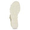 Złote sandały damskie na koturnach bata, beżowy, 569-8608 - 18