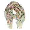Jasnozielona chusta wkolorowe kwiaty bata, multi color, 909-0252 - 26