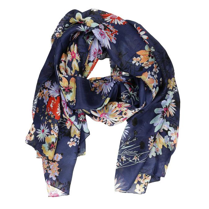 Jasnozielona chusta wkolorowe kwiaty bata, multi color, 909-0252 - 16