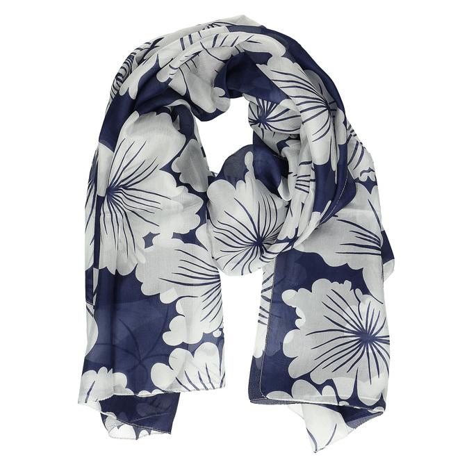 Chusty damskie wbiałe kwiaty bata, multi color, 909-0259 - 15
