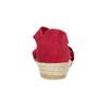 Czerwone skórzane sandały na koturnach bata, czerwony, 563-5600 - 15