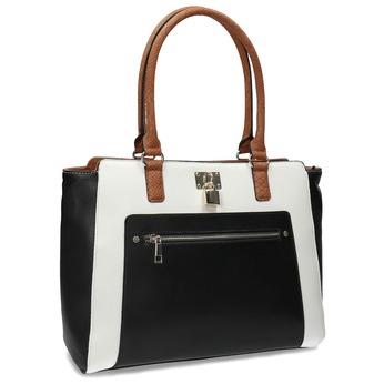 Czarno-biała torebka damska zkłódką bata-red-label, multi color, 961-0862 - 13
