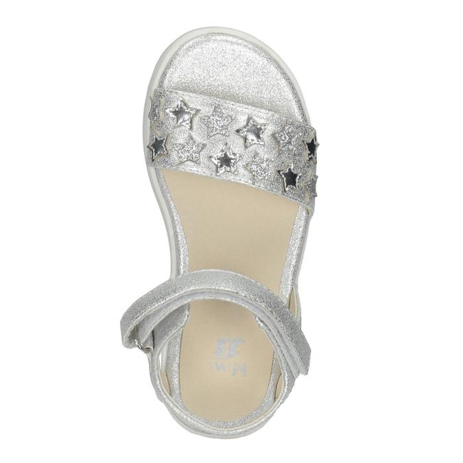 Srebrne sandały dziewczęce zgwiazdkami mini-b, srebrny, 261-1211 - 17