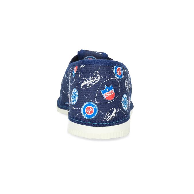 Granatowe wzorzyste kapcie dziecięce bata, niebieski, 379-9012 - 15