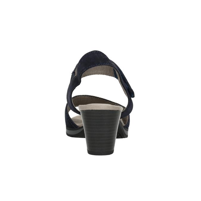 Niebieskie skórzane sandały oszerokościH bata, niebieski, 666-9616 - 16