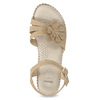 Beżowe sandały zkwiatkiem comfit, beżowy, 661-8613 - 17