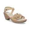 Beżowe sandały zkwiatkiem comfit, beżowy, 661-8613 - 13