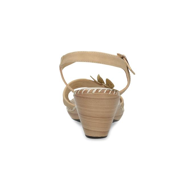 Beżowe sandały zkwiatkiem comfit, beżowy, 661-8613 - 15