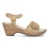 Beżowe sandały zkwiatkiem comfit, beżowy, 661-8613 - 19