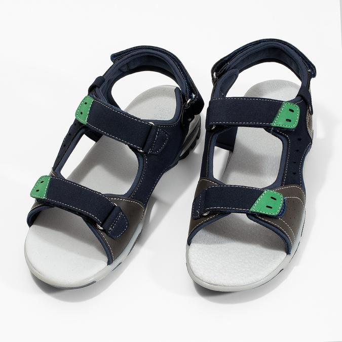 Sandały chłopięce wsportowym stylu mini-b, niebieski, 461-9607 - 16