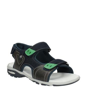 Sandały chłopięce wsportowym stylu mini-b, niebieski, 461-9607 - 13