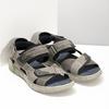 Szare skórzane sandały na rzepy bata, brązowy, 866-4640 - 26