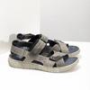 Szare skórzane sandały na rzepy bata, brązowy, 866-4640 - 16