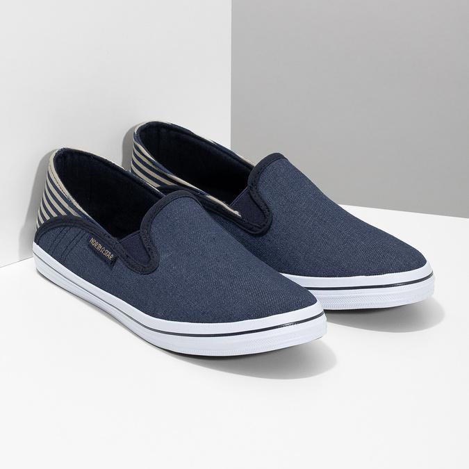 Slip-on dziecięce wdżinsowym stylu north-star, niebieski, 419-9615 - 26