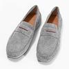 Zamszowe mokasyny męskie bata, szary, 853-2614 - 16