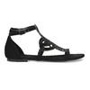 Sandały damskie zkryształkami bata, czarny, 569-6614 - 19