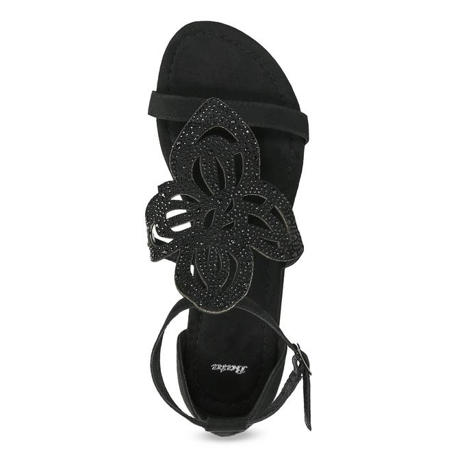 Sandały damskie zkryształkami bata, czarny, 569-6614 - 17