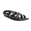 Czarne skórzane sandały ze skrzyżowanymi paskami bata, czarny, 864-6602 - 13
