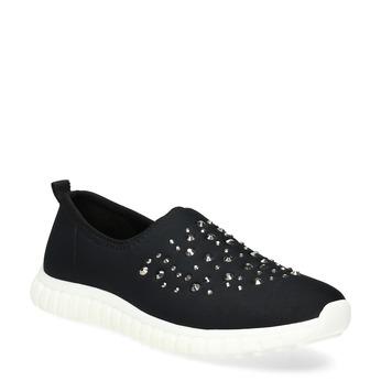 Wsuwane buty damskie zkryształkami bata-red-label, czarny, 539-6604 - 13