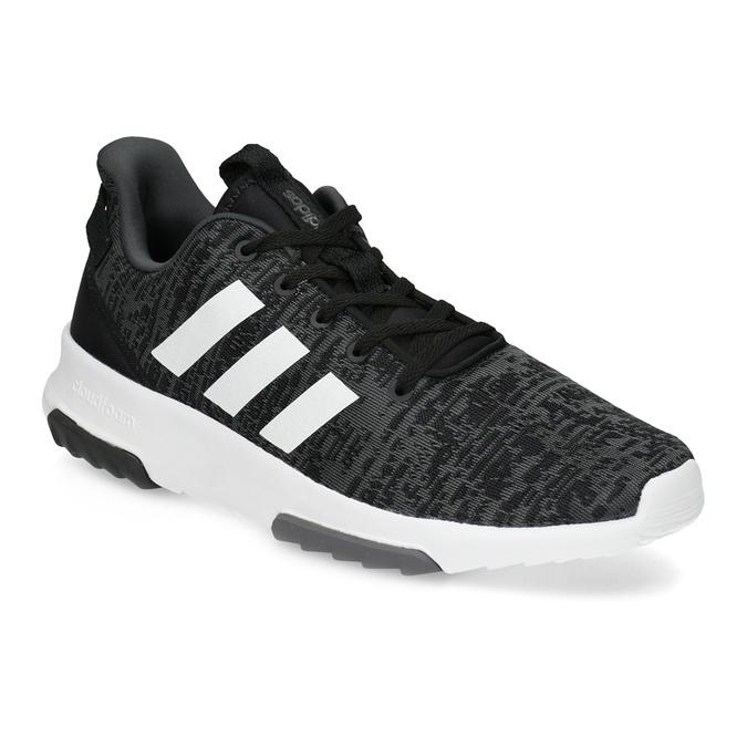 Trampki męskie wdrobny deseń adidas, czarny, 809-6301 - 13