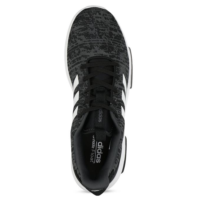 Trampki męskie wdrobny deseń adidas, czarny, 809-6301 - 17