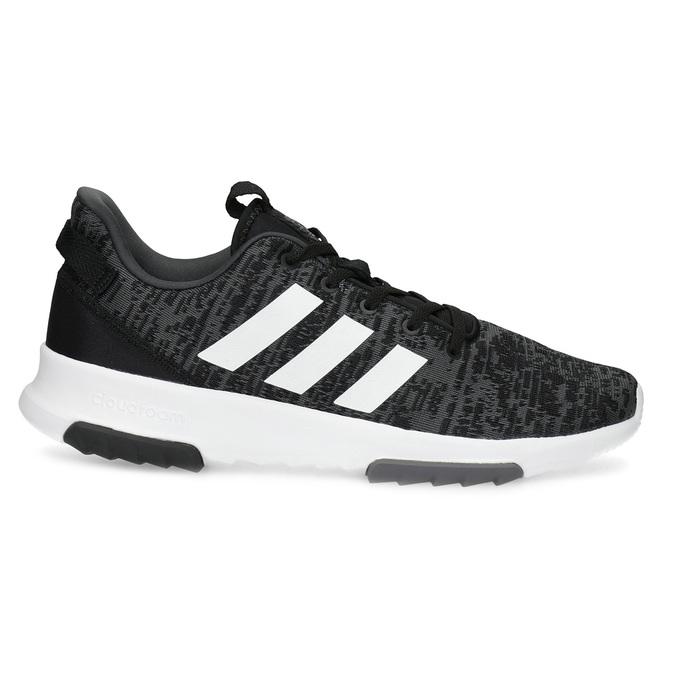 Trampki męskie wdrobny deseń adidas, czarny, 809-6301 - 19