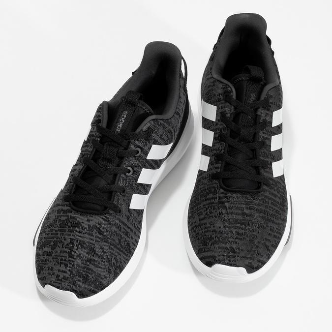 Trampki męskie wdrobny deseń adidas, czarny, 809-6301 - 16