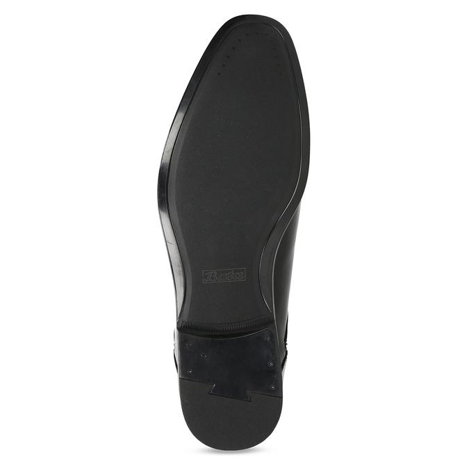 Czarne skórzane półbuty męskie bata, czarny, 824-6758 - 18